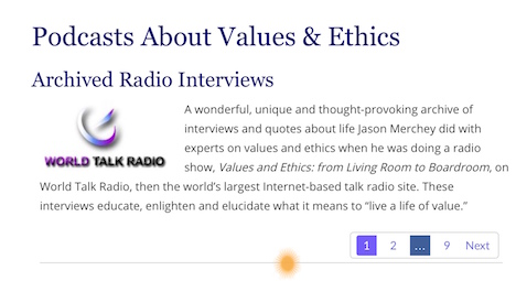 podcasts on values and ethics